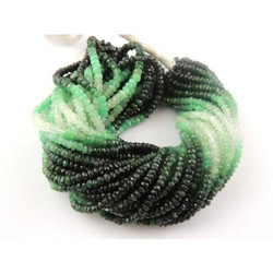 Emerald Shaded Sapphire Precious Beads