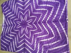 Designer Violet Purple Shibori Quilted Cotton Quilts