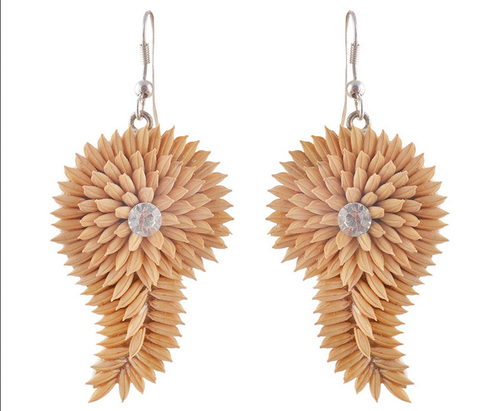 Beige Women Blinking Earring