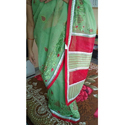 Supernet Embroidery Saree, Length: 5.5 M