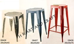 Contemporary Red TOLIX STOOL, Size: Standard