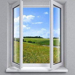 White Residential Modern UPVC Window, Glass Thickness: 8 Mm