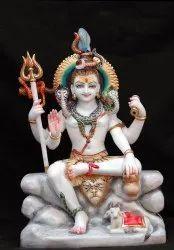 White Marble Shiv Statue