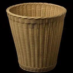 Yellow Laundry Bamboo Basket
