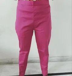 Plain Ladies Cotton Trouser, Waist Size: Up to 34