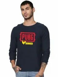 Mens Full Sleeves Round Neck Cotton T Shirt
