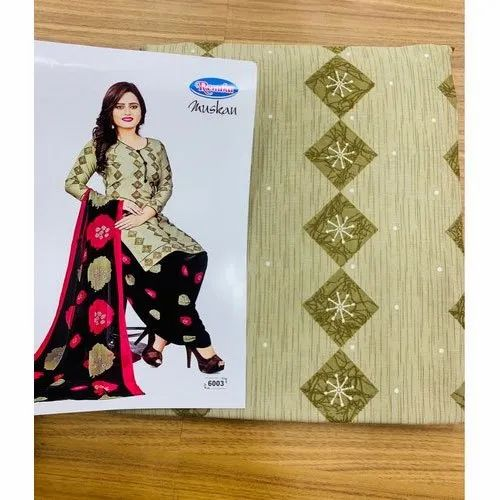 Renuka Muskan Unstitched Ladies Cotton Salwar Suit, Handwash
