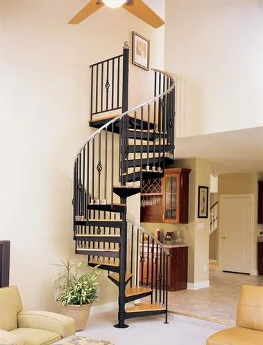 Spiral Painted Cast Iron Staircase, Rs 80000 /set MM Craft ...
