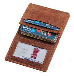 Male Hoof Leather Credit Card Case