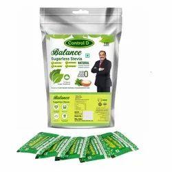 Control D Balance Diabetic, Keto & Health Friendly Sugar Free Stevia Sweetener (100 Sachet)