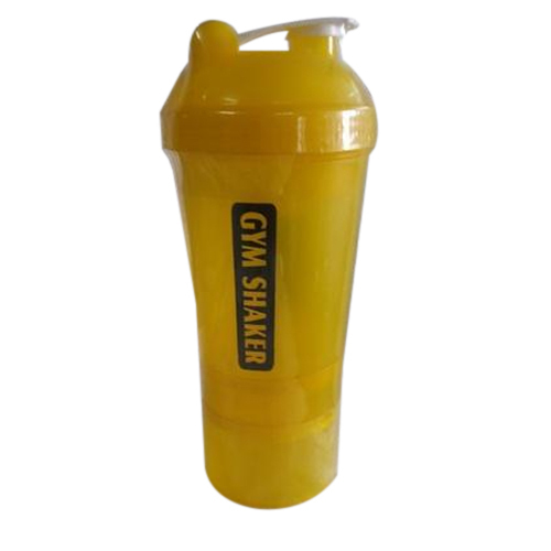 Yellow Plastic Gym Shaker, Capacity: 500 Ml
