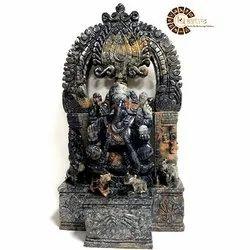 Gemstone Blue Sapphire Ganesha Sculpture, Size: 15 inch