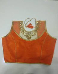 Orange Handwork Blouse