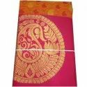 Cotton Party Wear Printed Pink Designer Silk Saree, Packaging Type: Plastic Bag, 5.5 M (separate Blouse Piece)