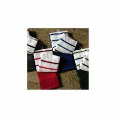 Popcorn Stripe & Plain Pair Towels