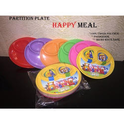 Plain Happy Meal Plastic Partition Plate, for Home