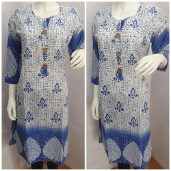 Blue Cotton Kurti