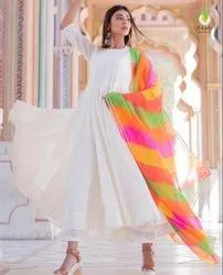 X-Lady Gown With Dupatta