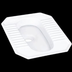 Floor Mounted White MD Squatting Pan Toilet Seat, Size/Dimension: 19x23 Inch