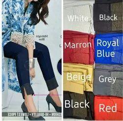 Women Cotton Pants, Waist Size: 34