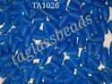 Frosted Clear Lampwork  Beads Handmade Glass Beads