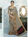 Beige Color Chanderi Cotton Weaving Saree with Blouse Piece