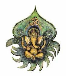 Ganesha Fiber Mural