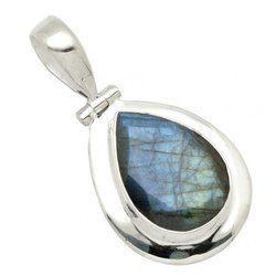 925 Sterling Silver Labradorite Pendant Earrings