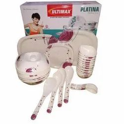 Platina Square Melamine Dinner Set