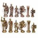 Brass Roman Chess Pieces Set