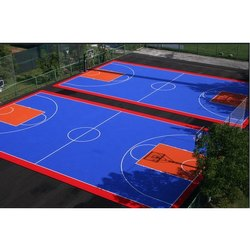 Outdoor Synthetic Flooring EPDM Basketball Court Construction Service, in PAN INDIA