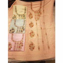 Ladies Embroidered Unstitched Salwar Kameez