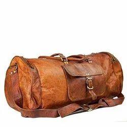 Handmade Leather Duffel Travel Bag