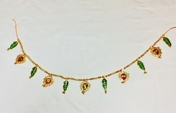 Gold Plated Bandhanwar Cutting Leaves