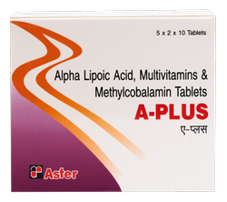A-Plus Alpha Lipoic Acid, Multivitamins, Methylcoblamine (A Plus) Tablets, Packaging Type: Alu- Alu