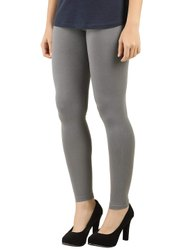Grey Lycra Ankle Length Leggings