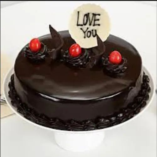 Pleasant Love You Valentine Truffle Cake At Rs 350 Piece Birthday Cake Personalised Birthday Cards Veneteletsinfo