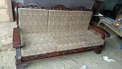 Sangwan Wood Sofa (3+1+1 )  Seating Capacity