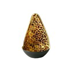 Mosaic Diya Antique Gold