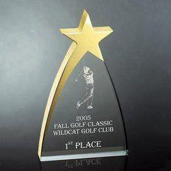 Golf Club Event Acrylic Trophy