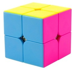 2X2X2 Rubiks Stickerless Magic Cube 3-D Brain Puzzle