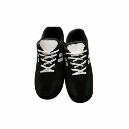 Qubex Men Black Hockey Shoes, Size: 6