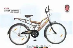 Atson AT-04 Scorpio Rear Shocker Men Bicycle Size: 26 X 1.95 And 24 X 1.75