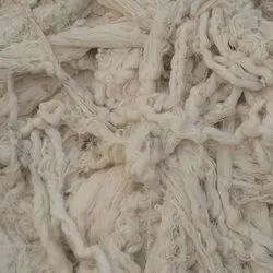 Raw White Cotton Yarn Waste, For Textile Industry, Packaging Type: HDPE Bags