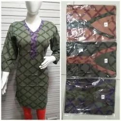 Cotton Straight Ladies Kurti, Wash Care: Machine wash