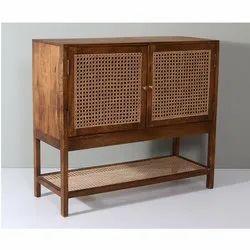 Wooden Cane Storage Cabinet