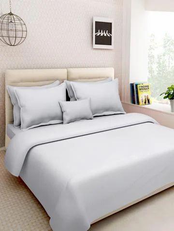Turkish White Cotton Double Bedsheet