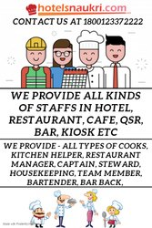 CONTRACTUAL STAFFS SUPPLIER IN HOTEL, RESTAURANT, CAFE, QSR ETC