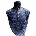 Cotton/linen Polka Dot Print Shirt