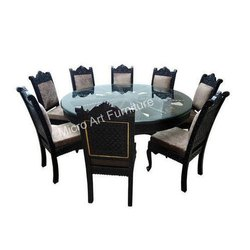 Hand Carved Wooden Dining Table Set